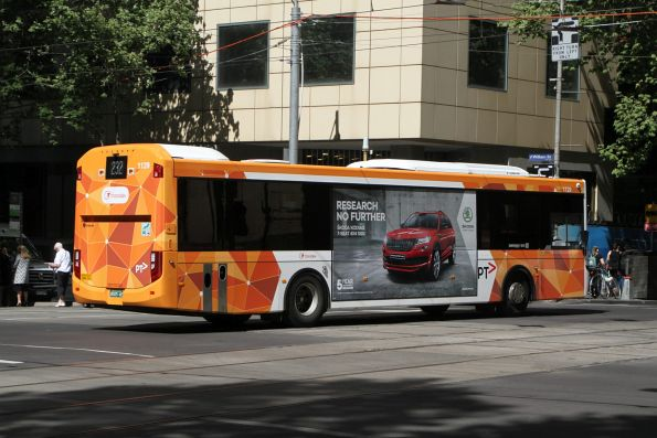 Transdev bus #1129 BS05AE heads west on route 232 at Collins and William Street