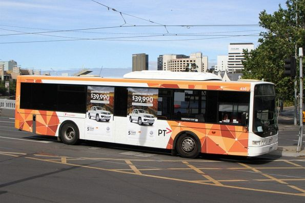 Transdev bus #436 crosses Queens Bridge