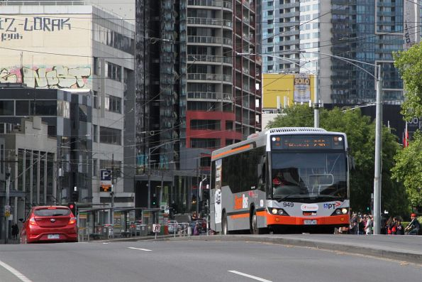 Transdev bus #949 7933AO on route 236 crosses Queens Bridge