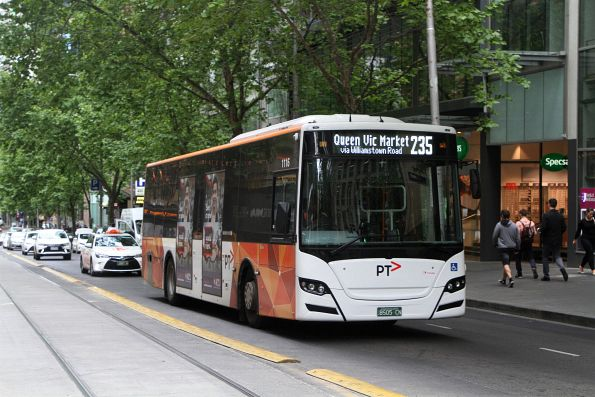 Transdev bus #1116 BS05CN heads east on route 235 at Collins and William Street