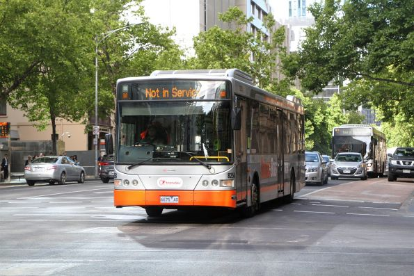 Transdev bus #8258 6675AO heads west on of service at Lonsdale and William Street