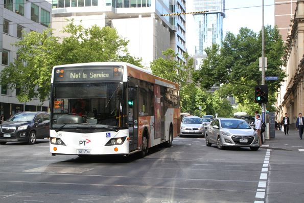 Transdev bus #915 6517AO heads west on of service at Lonsdale and William Street
