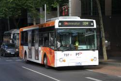 Transdev bus #737 1737AO heads east on route 304 at Lonsdale and William Street