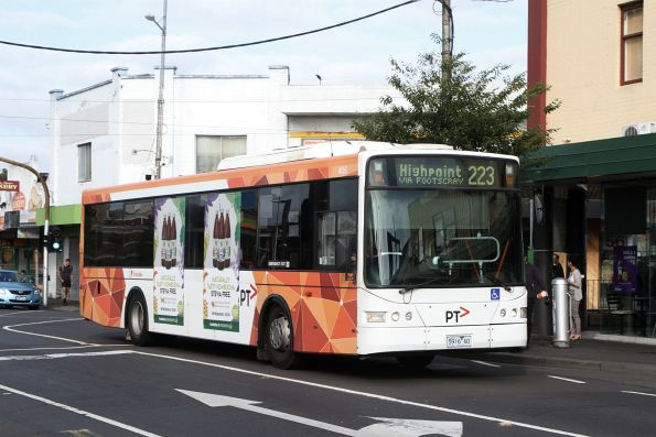 Transdev bus #416 5916AO on route 223 at Footscray station