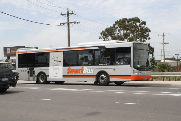 Transdev bus #8612 7968AO on route 902 on Camp Road crosses the Upfield line