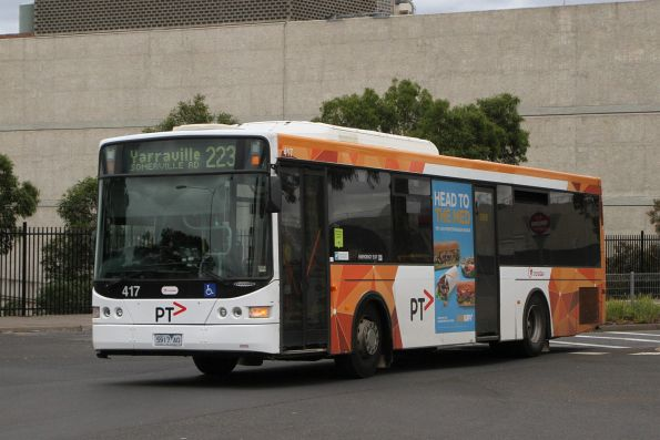 Transdev bus #417 5917AO on route 223 departs Highpoint Shopping Centre