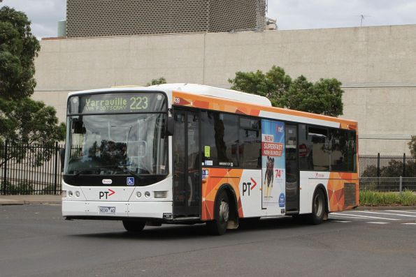 Transdev bus #439 9039AO on route 223 departs Highpoint Shopping Centre