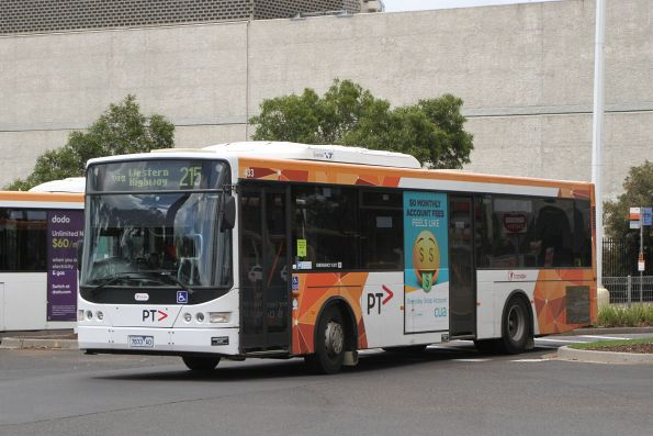 Transdev bus #433 7833AO on route 215 departs Highpoint Shopping Centre
