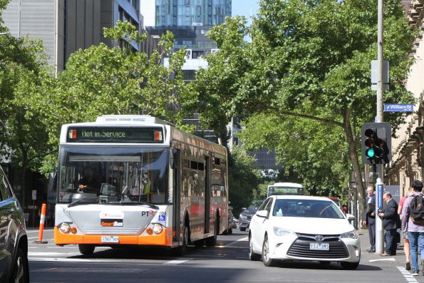 Transdev bus #704 1761AO out of service at Lonsdale and William Street