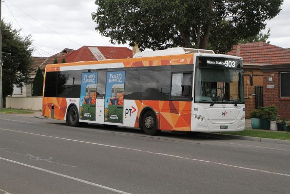 Transdev bus #107 BS00SY on route 903 along Hampshire Road, Sunshine