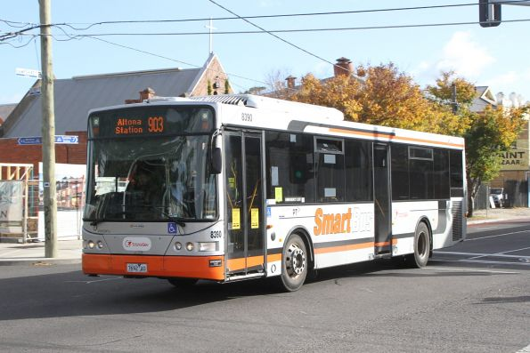 Transdev bus #8390 7692AO on a route 903 service along Hampshire Road, Sunshine