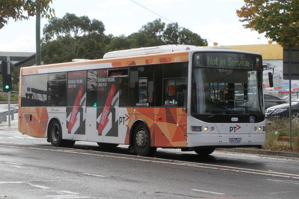 Transdev bus #413 5913AO out of service departing Sunshine station