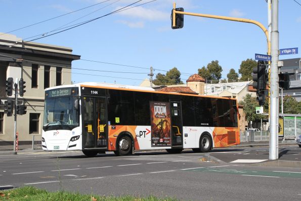 Transdev bus #1144 BS05DC out of service at Nicholson and Johnston Street
