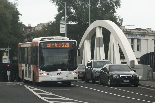Transdev bus #997 9103AO on route 220 along Nicholson Street, Footscray