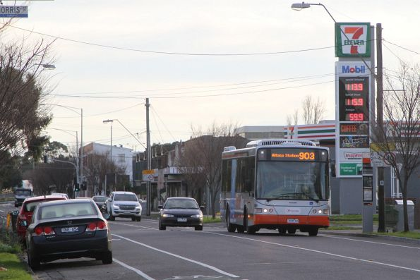 Transdev #8391 7658AO on route 903 along Hampshire Road, Sunshine