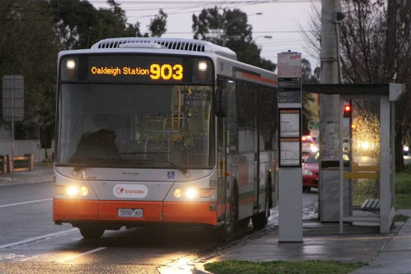 Transdev #8391 7658AO on route 903 to Oakleigh station on Hampshire Road, Sunshine
