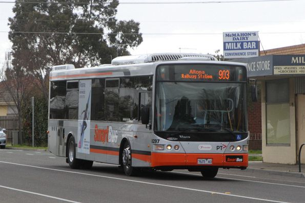 Transdev bus #8297 7625AO on route 903 along Hampshire Road, Sunshine