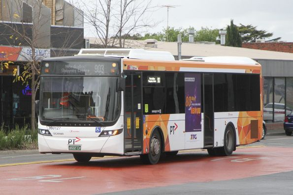 Transdev bus #127 BS02LP on route 903 at Sunshine station