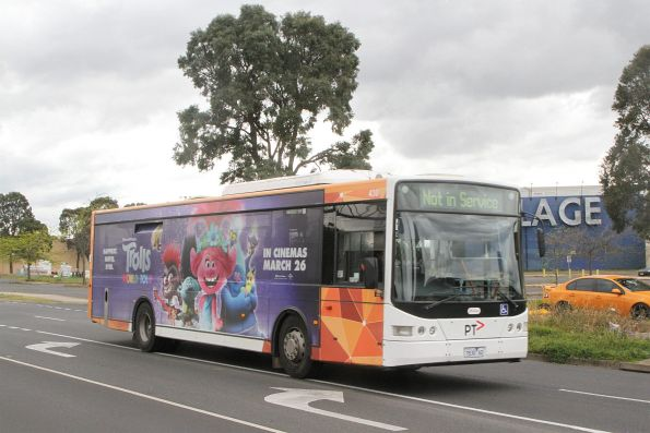 Transdev bus #430 7830AO out of service on Harvester Road, Sunshine
