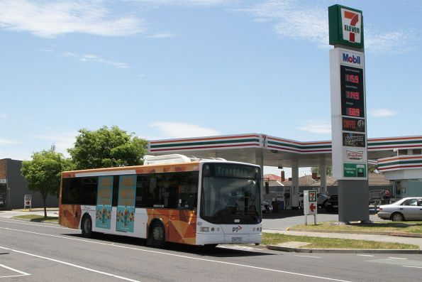 Transdev bus #401 5901AO out of service along Hampshire Road, Sunshine