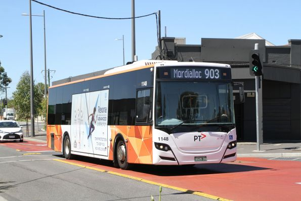 Transdev bus #1148 BS05DG on route 903 at Sunshine station