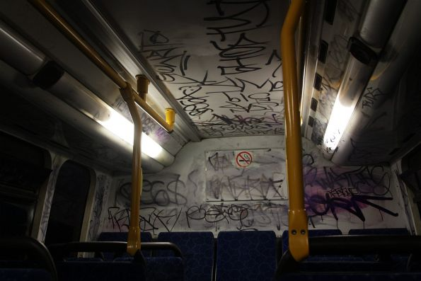 Up the back of yet another filthy grafitti covered Transdev bus