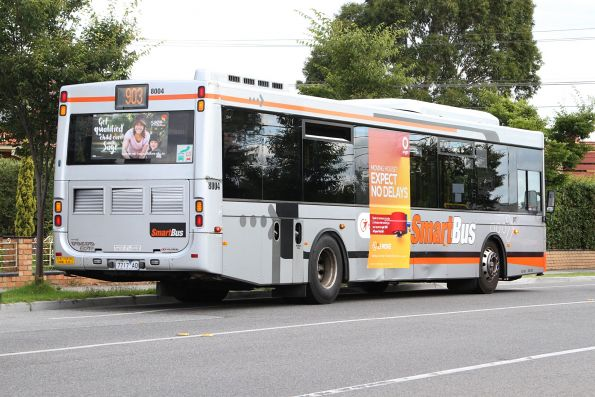 Transdev #8004 7717AO with panel damage on the corner and sides, plus a broken rear grill