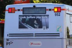 'Not in Oakleigh 903' displayed on the rear of Transdev bus #952
