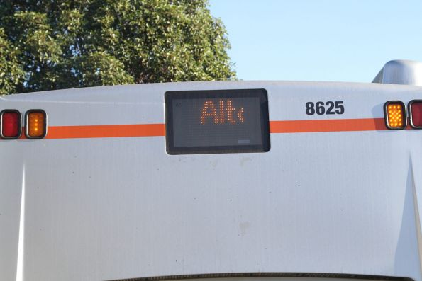 'Alto' displayed on the rear of Transdev bus #8625