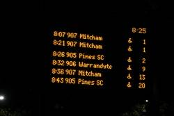 It's 8:25pm and both the 8:07 and 8:21 route 907 services are 1 minute away?