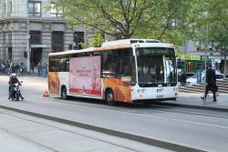 Transdev bus #533 5829AO broken down at Collins and Spencer Street
