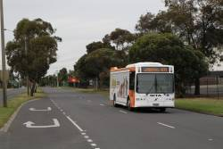 Transit Systems bus #130 BS00BO on route 471 along Fairbairn Road, Sunshine West