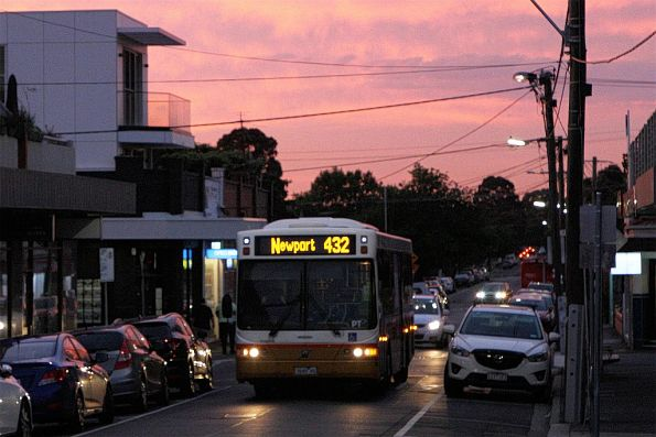 Transit Systems bus #111 7645AO on route 432 along Anderson Street, Yarraville