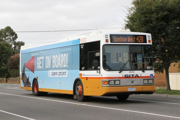 Transit Systems  bus #52 5983AO on route 428 along Hampshire Road, Sunshine