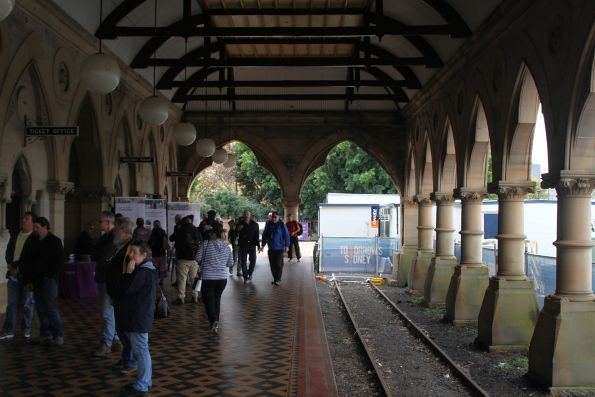 Inside the train shed at Mortuary station
