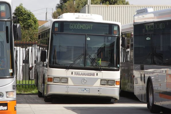 Tullamarine Bus Lines 1106AO stabled at the Tullamarine Bus Lines depot