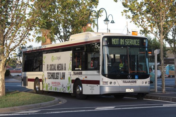 Tullamarine Bus Lines #2 rego 1102AO at Moonee Ponds