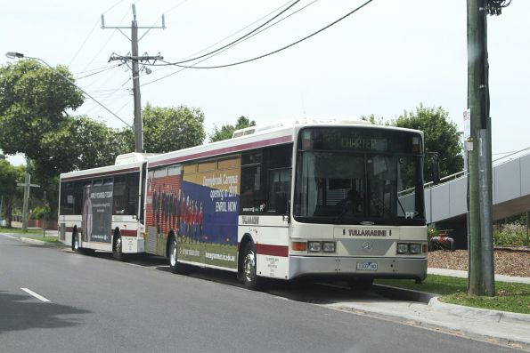 Tullamarine Bus Lines #7 1107AO and #24 on a charter in Sunshine
