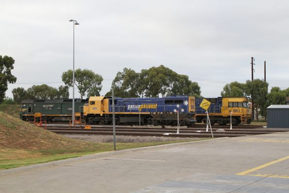 G538, X48 and NR2 outside the Spotswood Maintenance Centre