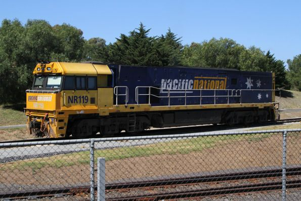 NR119 waiting at Spotswood, ready to be picked up by a PN crew to take it back to Dynon