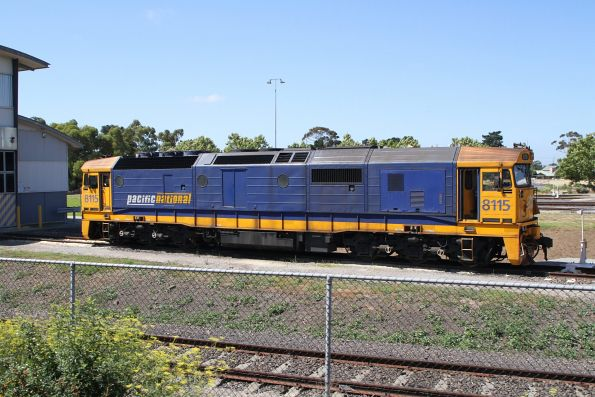 8115 outside the shed at Spotswood