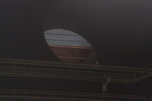 Looking out from Redfern platform 11 and 12 into the neighbouring hole