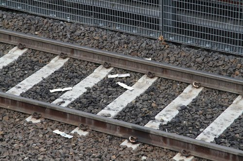Pile of Formplex weatherboard samples discarded on the tracks
