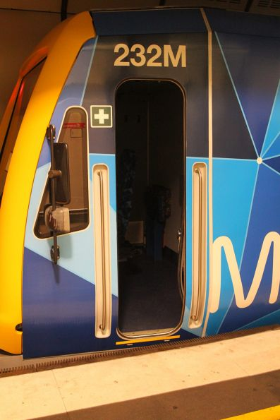 Open trailing cab door of X'Trapolis 232M