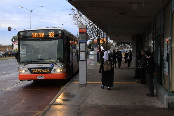 Ventura #8362 7492AO stops for passengers at Broadmeadows station with a route 902 Smartbus service