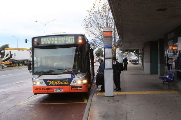 Ventura #8905 6705AO stops for passengers at Broadmeadows station with a route 901 Smartbus service