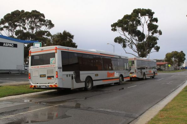 Pair of Smartbuses parked at the route 901 terminus at Melbourne Airport