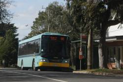 Ventura bus #8 rego 7861AO about to depart Gembrook on a route 695 service to Belgrave