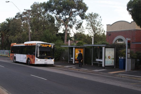 Ventura bus #1036 rego 6464AO about to depart Bell Street in Coburg on a route 527 service to Gowie