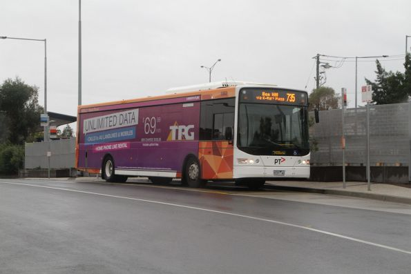 Ventura #1002 9107AO on a route 735 service from Nunawading station